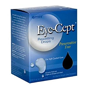 Optics Eye-Cept Rewetting Drops, 20-Count 0.02 fl oz (0.5 ml) droppers (Pack of 4)