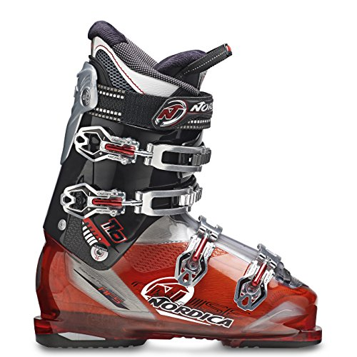 Nordica Cruise 110 2015 Mens Ski Boots 27.0 Mondo, Transparent Red/Black