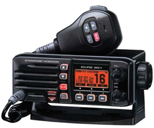 Standard Horizon GX1200B Standard Eclipse DSC and VHF Marine Radio - Black primary