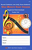 img - for VM12 - One-Minute Sight Singer - Beg./Int. Treble Clef book / textbook / text book