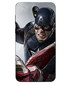 Case Cover Captain America Printed Multicolor Hard Back Cover For Sony Xperia XA Ultra Dual