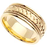 Handmade Woven 14k Yellow Gold Band (8MM)