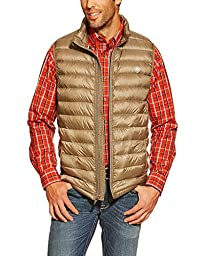 Ariat Men\'s Ideal Down Quilted Vest Brown X-Large
