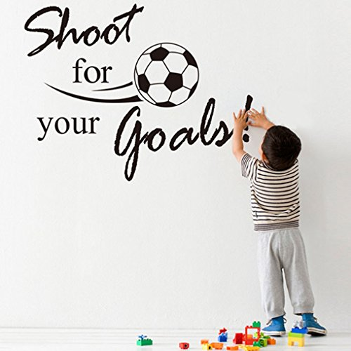 Hatop New Shoot For Your Goals Football Soccer Removable Decal Wall Sticker Home Decor (Pooh Football compare prices)