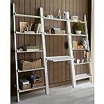 Leaning Ladder Bookshelf with Laptop Desk