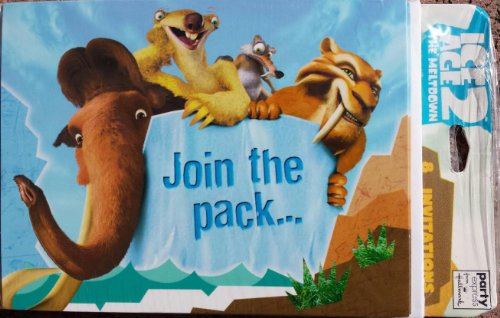 Ice Age 2 Invitations - 8 Count