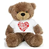 Brown 2 Feet Big Teddy Bear Wearing A I Love You T-shirt