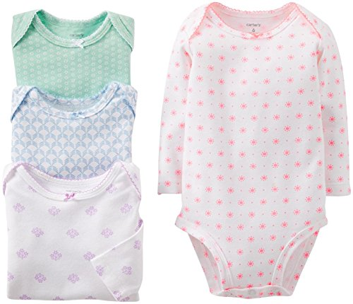 Carter'S Baby Girls' Ca-46013 4 Pack Bodysuits (Baby) - Assorted - Assorted-St - Newborn front-169483
