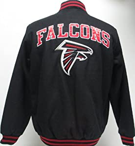 Atlanta Falcons Mens Snap up and Zip Wool Jacket by G-III Sports