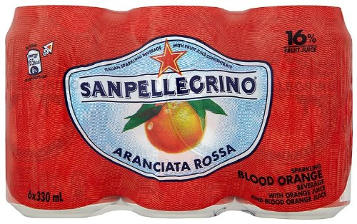 Sanpellegrino Aranciata Rossa Blood Orange 6 x 33 cl (Pack of 4, Total 24)