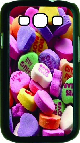 Candy hearts black Hard Case Cover for Samsung®