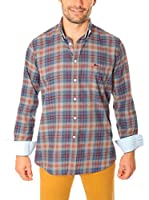 VICKERS Camisa Hombre Harvard (Azul / Gris)
