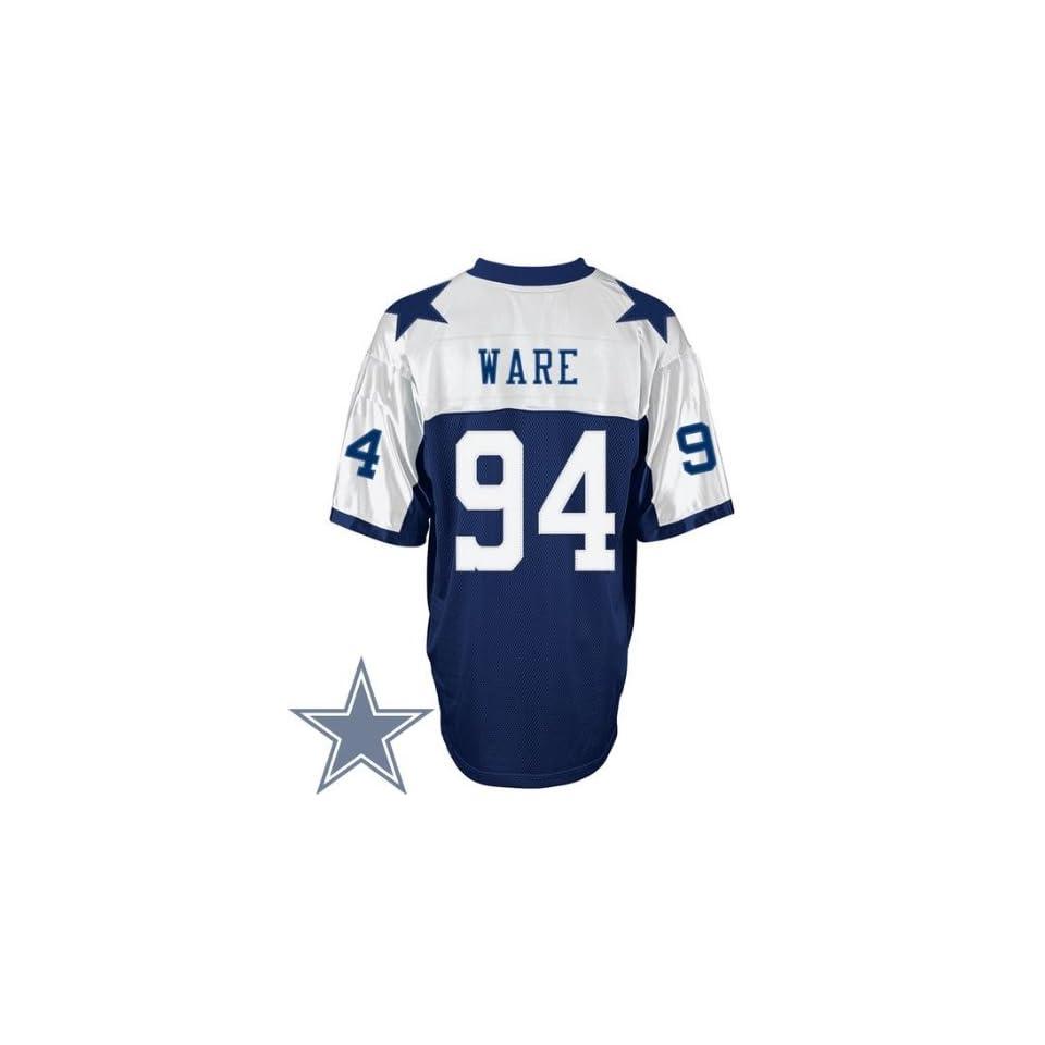best authentic 64e34 7cf43 Dallas Cowboys #94 DeMarcus Ware Blue Thanksgivings Jersey ...