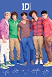 (24x36) One Direction Signatures Blue Music Poster