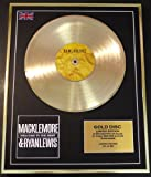 MACKLEMORE/LTD. EDITION CD GOLD DISC/RECORD/WELCOME TO THE HEIST