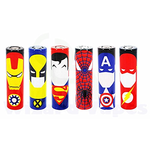 18650-Battery-SleeveWrap-Heat-Shrinkable-PVC-Super-Heroes