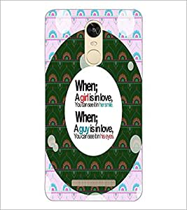 PrintDhaba Quote D-4455 Back Case Cover for XIAOMI REDMI NOTE 3 MEDIATEK (Multi-Coloured)
