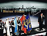Rene Rancourt Autographed Boston Bruins National Anthem Photo Boston Strong