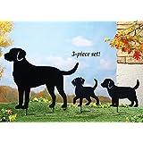 Labrador Dog Family Garden Stakes - Set Of 3