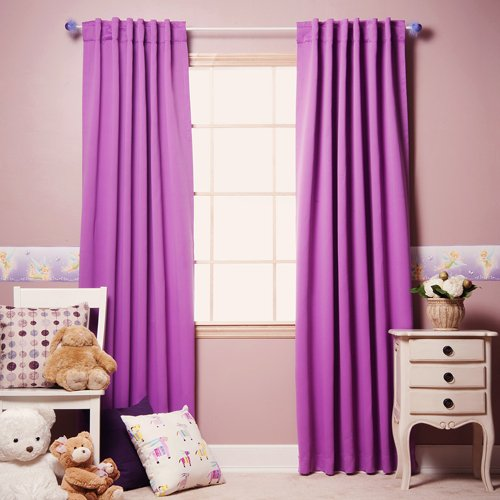 Violet Solid Thermal Insulated Blackout Curtain