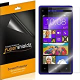 [6-Pack] SUPERSHIELDZ- High Definition Clear Screen Protector Shield For Windows Phone HTC 8X (AT&T, T-Mobile) + Lifetime Replacements Warranty [6 Pack] - Retail Packaging