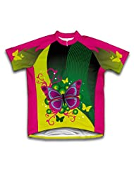 Fluttery Butterfly Short Sleeve Cycling Jersey for Women