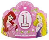 Disney 1st Birthday Princess Paper Tiaras (8 count) Party Accessory