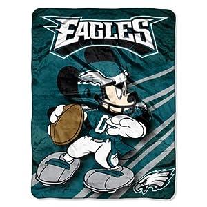 NFL Philadelphia Eagles Mickey Mouse Ultra Plush Micro Super Soft Raschel Throw... by Northwest