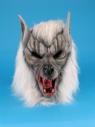Star Power Realistic Wolf Animal Mask Grey One Size (Adult)
