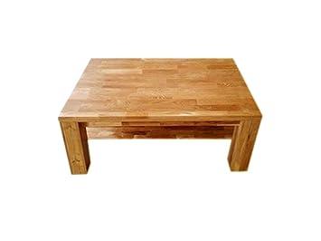 SAM® Stilvoller Couchtisch Ancona 17021 Tisch in Wildeiche massiv 120 x 80 cm naturlich geölte Oberfläche Lieferung per Paketdienst