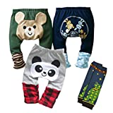 Kubeer 4pc 0-3T Baby PP Pants Children Boy Infant Autumn Tights Trousers Clothes