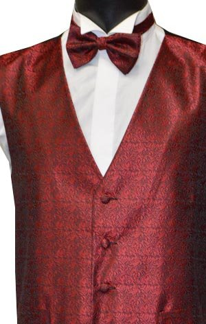 Red Party Waistcoat with FREE Matching Bow Tie Worth £11.99