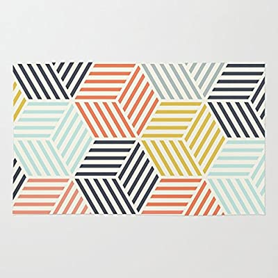 Society6 Colorful Geometric Rug