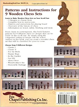 Wooden Chess Sets You Can Make: 9 Complete Designs for the ...