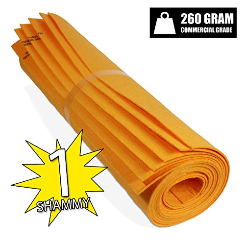 The Newest Original German Shammy - Commercial Grade 260gm Drying Chamois (1, Orange (Large) (As Seen On Tv Sweeper compare prices)