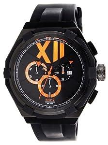 Jet Set J1131B-037 - Reloj cronógrafo de cuarzo para hombre con correa de caucho, color negro