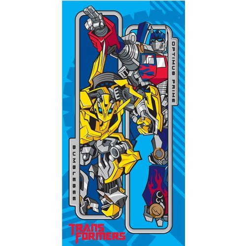 Childrens/Kids Boys 100% Cotton Transformers Bath/Beach Towel (70cm x 140cm) (Blue/Red/Yellow)