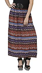 MansiCollections Women's Viscose Skirt (MC_SK_2084_MU, Multi-Coloured, Small)