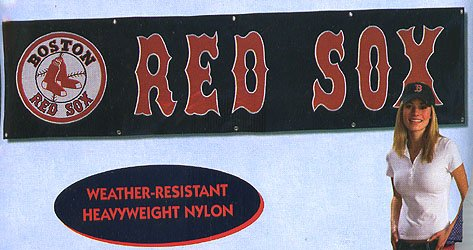 Boston Red Sox 8' Banner - Buy Boston Red Sox 8' Banner - Purchase Boston Red Sox 8' Banner (The Party Animal, Home & Garden,Categories,Patio Lawn & Garden,Outdoor Decor,Banners & Flags,Sports Flags & Banners)