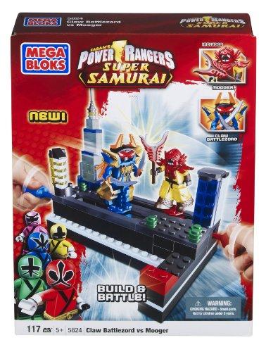Mega Bloks Power Rangers Samurai Claw Battlezord vs Mooger (Power Rangers Lego compare prices)