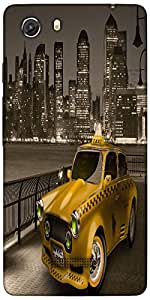Snoogg New York City Cab 2671 Designer Protective Back Case Cover For Microma...