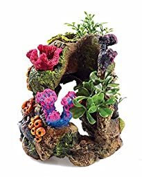 RockGarden Resin Aquarium Coral Garden, Multi-Color