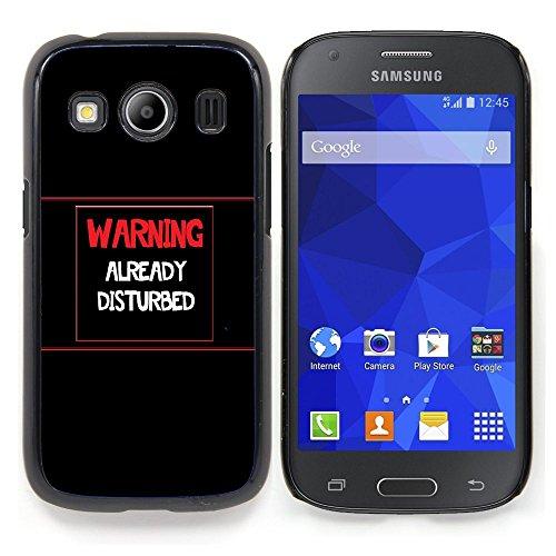 Stuss Case / Premio Sottile Slim Cassa Custodia Case Bandiera Cover Armor PC Aluminium - Attenzione - Già DisturbedAdvertencia - Ya Disturbed - Samsung Galaxy Ace Style LTE/ G357