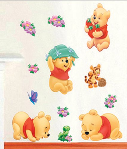 wandaufkleber wandtattoo wandsticker deko winnie pooh kind. Black Bedroom Furniture Sets. Home Design Ideas