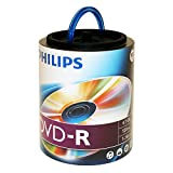 Philips Branded 16X DVD-R Media 100 Pack in Spindle with Handle (DM4S6H00F/17)