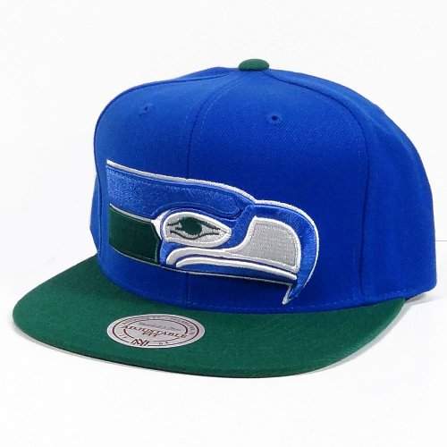 Seattle-Seahawks-Big-Logo-BlueGreen-Adjustable-Snapback-Hat-Cap