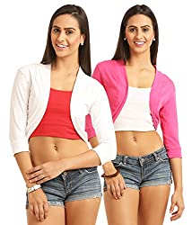 Women's Cotton Shrugs(Pack of 2)
