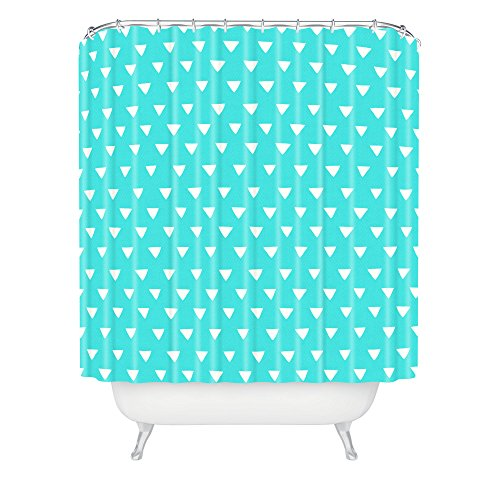 Deny Designs Bianca Geometric Confetti Teal Shower Curtain front-390480