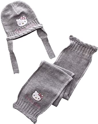 Hello Kitty Elvis HM4271 Baby Girl's Hats Grey 6-9 Months