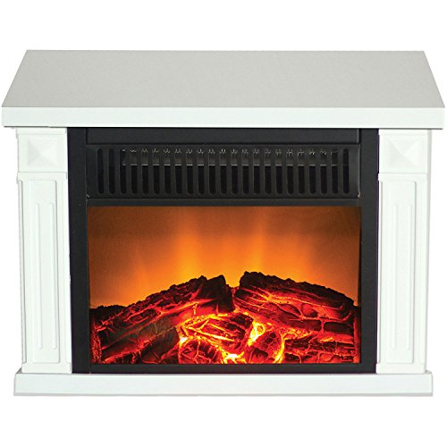Frigidaire TZRF-10346 Zurich Tabletop Retro Electric Fireplace, White photo